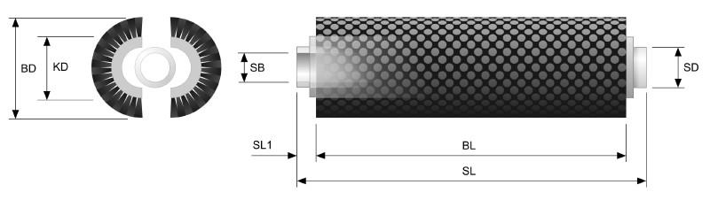 Koti Tufted Roller Brush - Split Core with tube