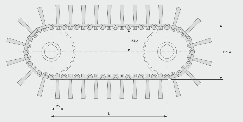 Koti tufted-brush--belt-brush-quick-chain-large