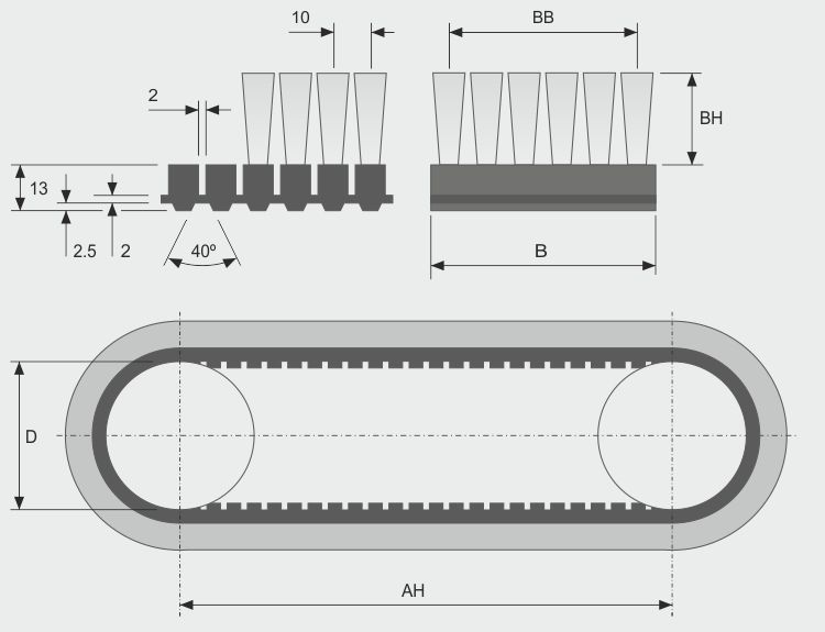 Koti tufted-brush--belt-brush-toothed-brg10