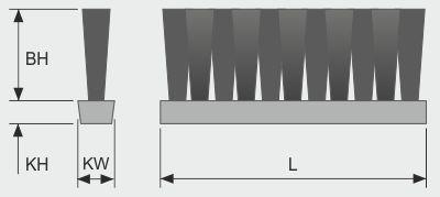 Koti tufted-brush--belt-brush-v-1-row