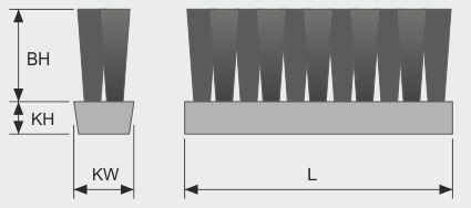 Koti tufted-brush--belt-brush-v-2-row