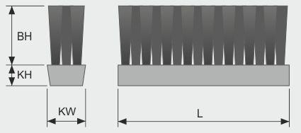 Koti tufted-brush--belt-brush-v-3-row