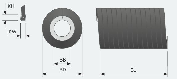 Brush Strip External Form - Compressed or Extended Coil