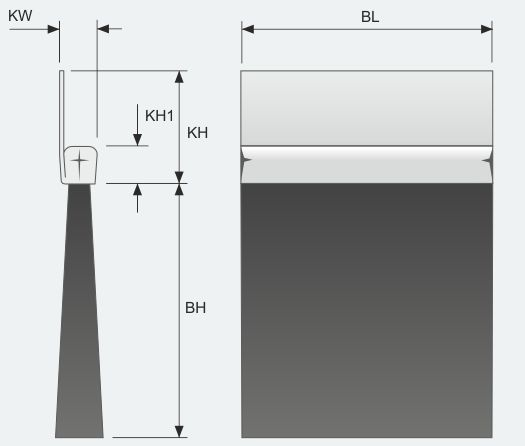 Brush Strip with 180º Integral Flange